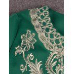 best Embroidered Three Quarter Sleeve Coat