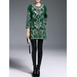 Embroidered Three Quarter Sleeve Coat deal