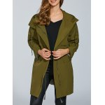 Hooded Overlayed Trench Coat