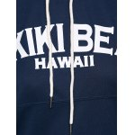 best Loose Fit Letters Print Patchwork Hoodie