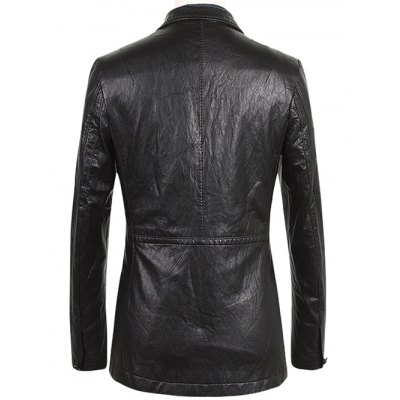 Notch Lapel Single Breasted Faux Leather BlazerMens Blazers<br>Notch Lapel Single Breasted Faux Leather Blazer<br><br>Material: Faux Leather<br>Clothing Length: Regular<br>Sleeve Length: Long Sleeves<br>Closure Type: Single Breasted<br>Weight: 0.700kg<br>Package Contents: 1 x Blazer