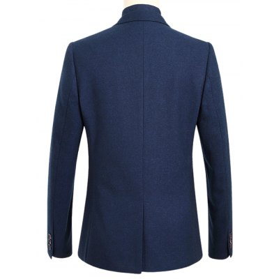 Chest Pocket Notch Lapel One-Button BlazerMens Blazers<br>Chest Pocket Notch Lapel One-Button Blazer<br><br>Material: Polyester<br>Clothing Length: Regular<br>Sleeve Length: Long Sleeves<br>Closure Type: Single Breasted<br>Weight: 0.700kg<br>Package Contents: 1 x Blazer