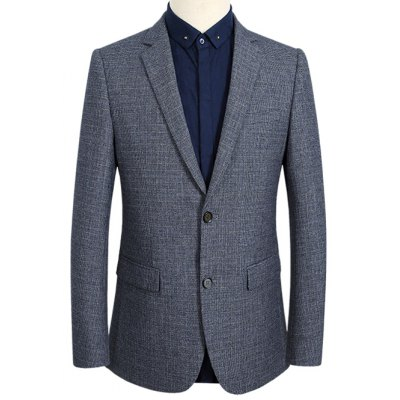 Notch Lapel Single Breasted Texture Blazer