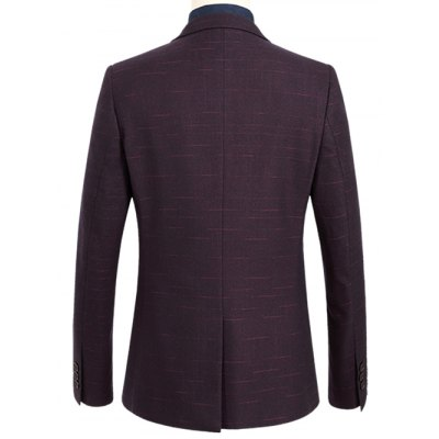 Notch Lapel Shadow Grid One-Button BlazerMens Blazers<br>Notch Lapel Shadow Grid One-Button Blazer<br><br>Material: Polyester<br>Clothing Length: Regular<br>Sleeve Length: Long Sleeves<br>Closure Type: Single Breasted<br>Weight: 0.700kg<br>Package Contents: 1 x Blazer