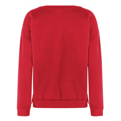 Christmas Fuzzy SweaterSweatshirts &amp; Hoodies<br>Christmas Fuzzy Sweater<br><br>Material: Polyester<br>Clothing Length: Regular<br>Sleeve Length: Full<br>Style: Casual<br>Pattern Style: Print<br>Season: Fall,Spring,Winter<br>Weight: 0.252kg<br>Package Contents: 1 x Sweatshirt