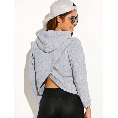 Drawstring Cross Back Hoodie