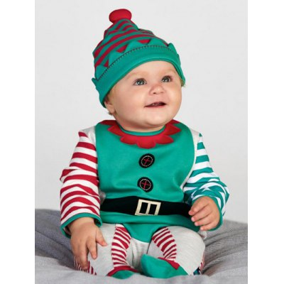 Christmas Toddler Long Sleeve Romper Jumpsuit