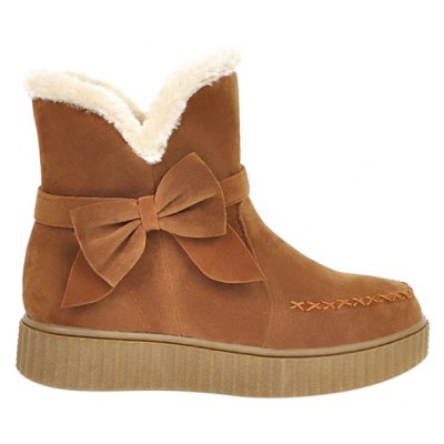 Bowknot Stitching Snow Boots