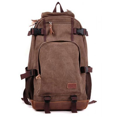 Zippers Canvas Backpack