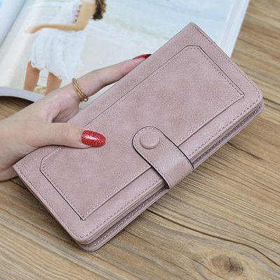 Button Zip Vintage Clutch Wallet