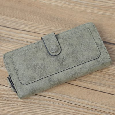 Bi Fold Clutch WalletWomens Wallets<br>Bi Fold Clutch Wallet<br><br>Wallets Type: Clutch Wallets<br>Gender: For Women<br>Style: Vintage<br>Closure Type: Zipper<br>Pattern Type: Solid<br>Main Material: PU<br>Length: 19CM<br>Width: 3CM<br>Height: 9.5CM<br>Weight: 0.201kg<br>Package Contents: 1 x Wallet
