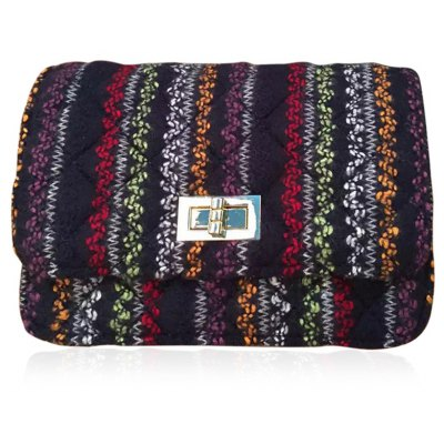 Colored Knitting Crossbody Bag