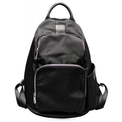 Casual Multi Zips Backpack
