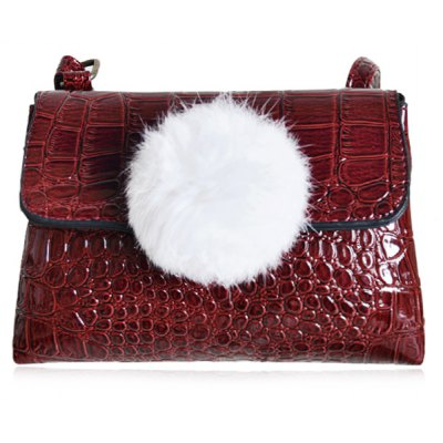 Crocodile Embossed Crossbody Bag