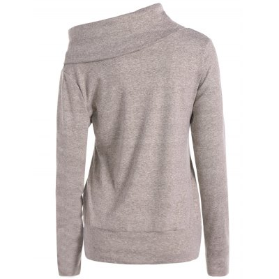 High Neck Long Sleeve SweatshirtSweatshirts &amp; Hoodies<br>High Neck Long Sleeve Sweatshirt<br><br>Material: Polyester<br>Clothing Length: Regular<br>Sleeve Length: Full<br>Style: Casual<br>Pattern Style: Solid<br>Season: Fall,Spring<br>Weight: 0.520kg<br>Package Contents: 1 x Sweatshirt