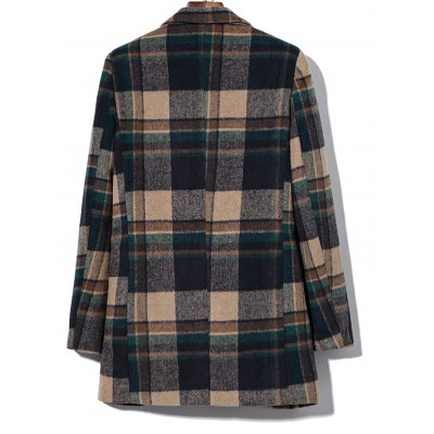 Double Breasted Lapel Plaid Wool Blend CoatMens Jackets &amp; Coats<br>Double Breasted Lapel Plaid Wool Blend Coat<br><br>Clothes Type: Wool &amp; Blends<br>Style: Casual,Vintage<br>Material: Cotton,Polyester,Wool<br>Collar: Turn-down Collar<br>Clothing Length: Long<br>Sleeve Length: Long Sleeves<br>Season: Winter<br>Weight: 0.850kg<br>Package Contents: 1 x Coat