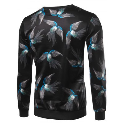 Crew Neck 3D Birds Print Long Sleeve SweatshirtMens Hoodies &amp; Sweatshirts<br>Crew Neck 3D Birds Print Long Sleeve Sweatshirt<br><br>Material: Cotton,Polyester<br>Clothing Length: Regular<br>Sleeve Length: Full<br>Style: Fashion<br>Weight: 0.650kg<br>Package Contents: 1 x Sweatshirt