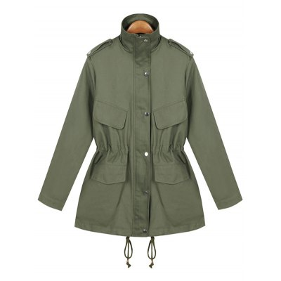 String Loose Field Coat