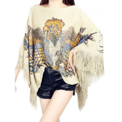 Cape Fringed Loose Knitwear