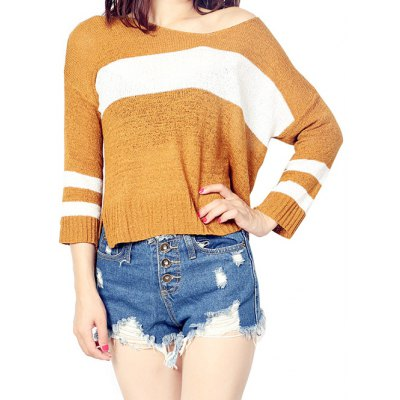 High Low Color Block Sweater