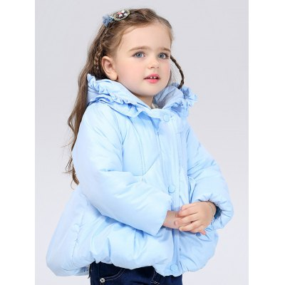 Baby Flounce Ruched Hooded Padded Puffer JacketGirls Clothing<br>Baby Flounce Ruched Hooded Padded Puffer Jacket<br><br>Clothes Type: Padded<br>Material: Down<br>Type: Wide-waisted<br>Clothing Length: Regular<br>Sleeve Length: Full<br>Collar: Hooded<br>Closure Type: Zipper<br>Pattern Type: Solid<br>Embellishment: Ruffles<br>Style: Casual<br>With Belt: No<br>Weight: 0.578kg<br>Package Contents: 1 x Jacket