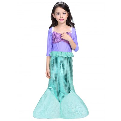 sequined-fish-tail-dress