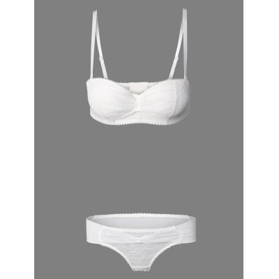 See-Through Embroidery Bra Set
