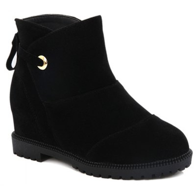 Increased Internal Suede Ankle Boots