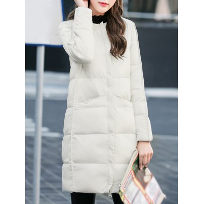 Fitting Zip-Up Quilted Coat