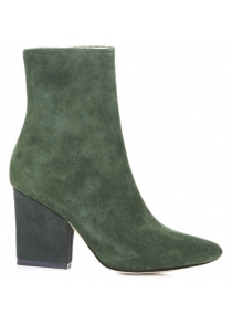 Side Zip Chunky Heel Pointed Toe Ankle Boots