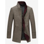 cheap Sleeve Buttons Stand Collar Single Breasted Blazer