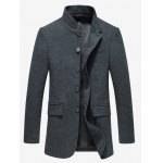 cheap Mandarin Collar Embroidered Covered Button Up Blazer