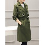 cheap Buttonless Fitting Wrap Coat