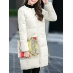 cheap Fitting Zip-Up Padded Coat