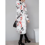 cheap Hooded Vintage Printed Quilted Coat