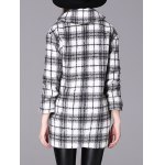 Checked Double-Breasted Woolen Coat deal
