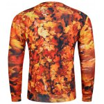 cheap 3D Maple Leaves Print Long Sleeve Crew Neck Sweatshirt