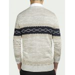 cheap Geometric Pattern Round Neck Long Sleeve Sweater