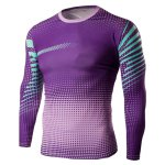 Buy Slim-Fit Quick-Dry Long Sleeve Ombre T-Shirt M