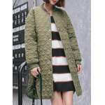 cheap Buttoned Long Padded Coat
