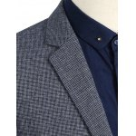 best Notch Lapel Sleeve Buttons Single Breasted Texture Blazer