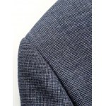 Notch Lapel Sleeve Buttons Single Breasted Texture Blazer photo
