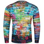cheap 3D Doodles Wall Print Long Sleeve Crew Neck Sweatshirt