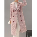 Double-Breasted Checked Vinatge Coat for sale