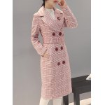 Double-Breasted Checked Vinatge Coat deal