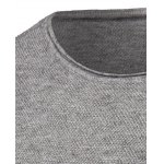 Crew Neck Simple Long Sleeve Sweater deal