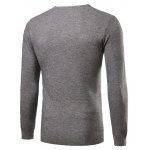 cheap Crew Neck Simple Long Sleeve Sweater