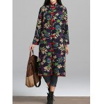 Longline Floral Print Textured Coat deal
