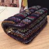 Colored Knitting Checked Crossbody Bag for sale