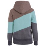 cheap Casual Color Block Long Sleeves Hoodie For Women